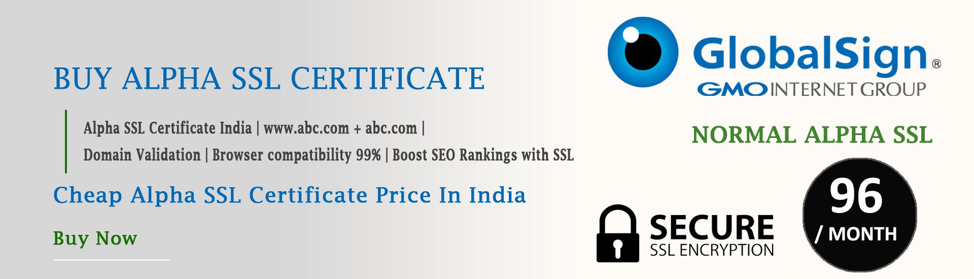 buy alpha SSL certificate